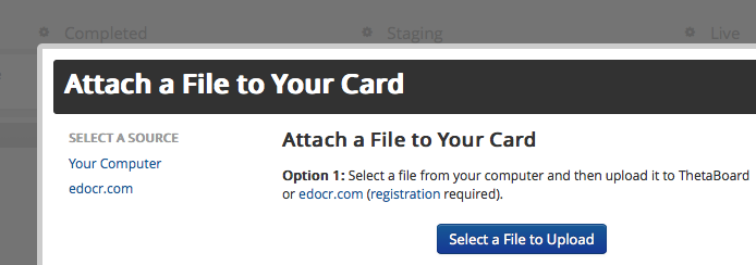 Attach a file to your ThetaBoard Cards